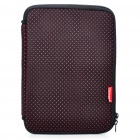 "Stylish Protective Soft Bag with Dual-Zipped Close for 10"" Laptop Notebook - Black + Red"
