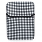 "Stylish Protective Soft Bag for 10"" Laptop Notebook - Black + White"