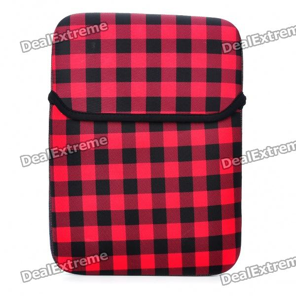 Stylish Protective Soft Bag for 10 Laptop Notebook - Black + Red