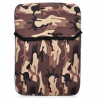 "Stylish Protective Soft Bag for 10"" Laptop Notebook - Camouflage Brown"