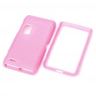 Protective Mesh Front + Back Case for Nokia E7/E7-00 - Pink