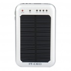 Solar Powered Rechargeable 2600mAh Portable Power Pack with Charging Adapters + Flashlight