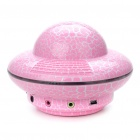 Unique UFO Shaped USB Powered Speaker with Sound Card - Pink