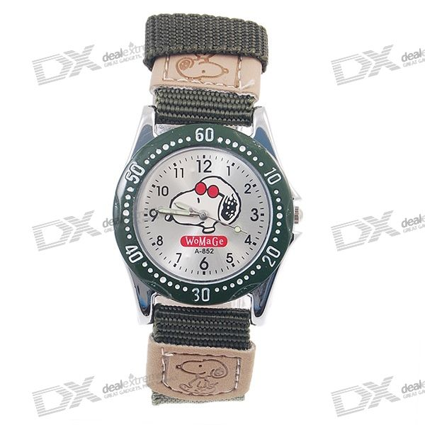 Snoopy Quartz Watch (Green)