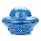Unique UFO Shaped USB Powered Speaker with Sound Card - Blue
