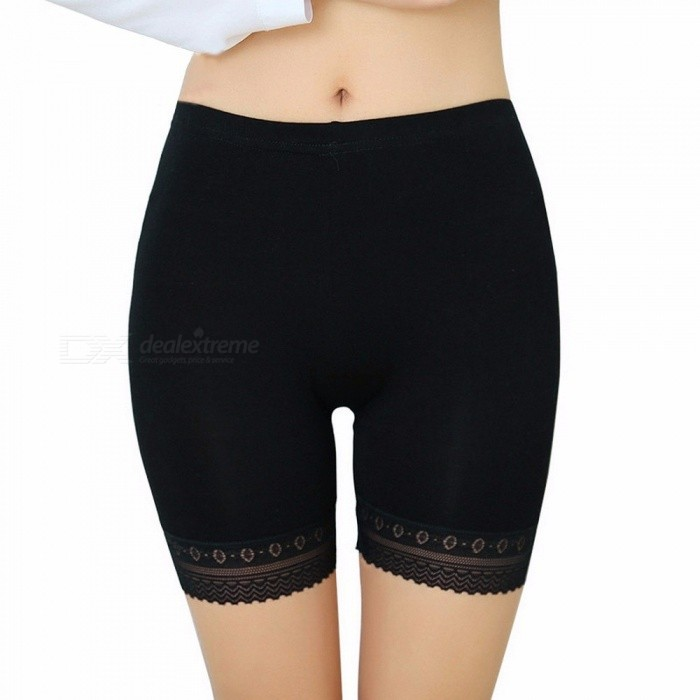 660fa3ad29090 Modal Lace Seamless Safety Short Pants Summer Under Skirt Shorts Plus Size  Ice Silk Breathable Tights