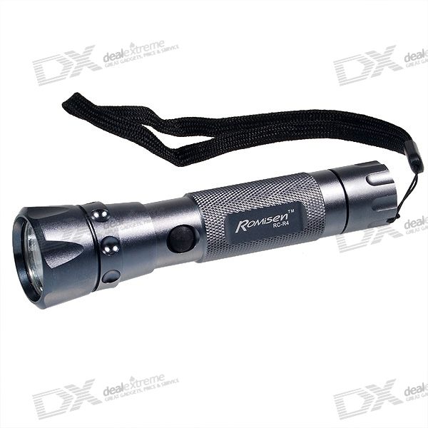 Romisen RC-R4 Cree P4 LED Flashlight Silver (3V~8V Input)