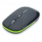 Genuine Rapoo 3500 2.4GHz Wireless 800/1600DPI USB Laser Mouse w/ Receiver - Black (1 x AA)