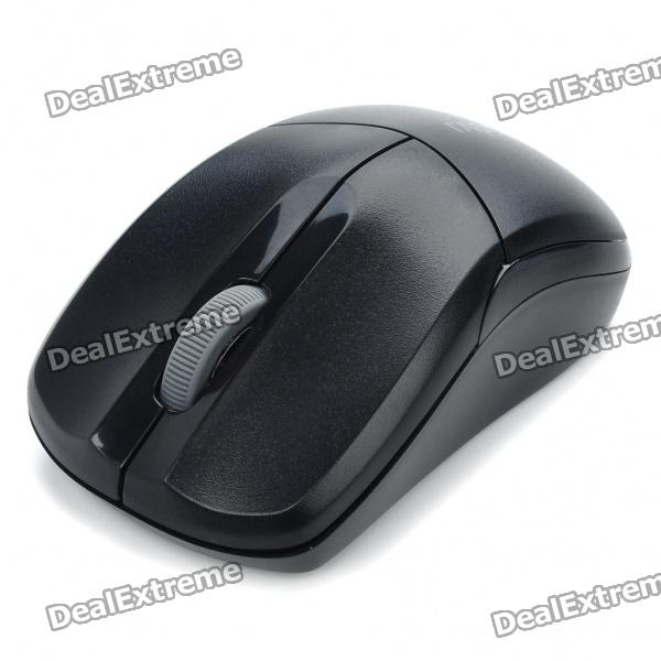 Genuine Rapoo 1090 2.4GHz Wireless 1000DPI USB Optical Mouse w/ Receiver - Black (1 x AA) motospeed g310 fashion wireless 1000dpi optical mouse black red 1 x aa