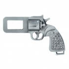 Universal Gun Shaped Seat Belt Buckle Latch (Color Assorted)