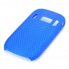 Mesh Protective PC Plastic Back Case for Nokia C7 - Blue