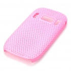 Mesh Protective PC Plastic Back Case for Nokia C7 - Pink