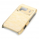 Protective Shining PC Plastic + Aluminum Back Case for Nokia N8 - Golden