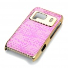 Protective Shining PC Plastic + Aluminum Back Case for Nokia N8 - Pink