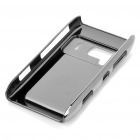 Protective Shining PC Plastic + Aluminum Back Case for Nokia N8 - Silver