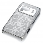 Protective Shining PC Plastic + Aluminum Back Case for Nokia N8 - Grey