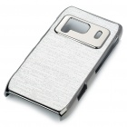 Protective Shining PC Plastic + Aluminum Back Case for Nokia N8 - White