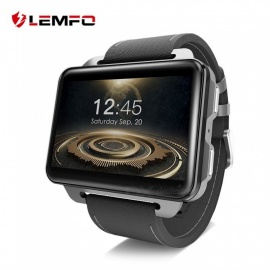 LEMFO LEM4 PRO 2.2 Inches Square Screen 3G Smart Watch With 1.3MP Camera Black