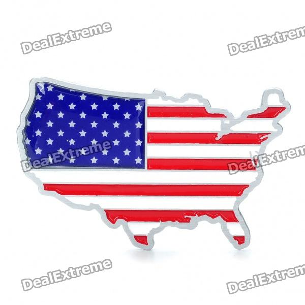 Stylish Aluminum Alloy Car Decoration Sticker - US Flag Pattern creative devil pattern car decoration sticker red golden