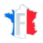 Stylish Aluminum Alloy Car Decoration Sticker - French Flag Pattern