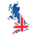 Stylish Aluminum Alloy Car Decoration Sticker - British Map Pattern