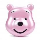 "F168 Cute Bear 1.8"" LCD Dual SIM Dual Network Standby Quadband GSM Cell Phone w/ Camera - Pink"