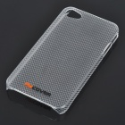Unique Back Case + Screen Guard + Stand Holder Full Set for Iphone 4 - Translucent White