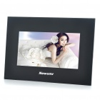 "7"" TFT LCD Desktop Digital Photo Frame with USB/SD/MMC - Black (480 x 234px)"
