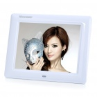 "8"" TFT LCD Digital Photo Frame with Remote Controller + USB/SD/MMC/MS Out - White (800 x 600px)"