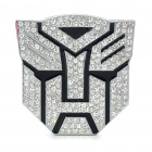 Stylish Aluminum Alloy Car Decoration Sticker - Autobot Transformer Pattern