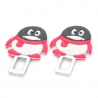Cute Penguin QQ Style Glow-in-The-Dark Seat Belt Buckle Latches - Color Assorted (Pair)
