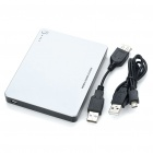 6600mAh Rechargeable External Battery with USB Cable - Silver + Black