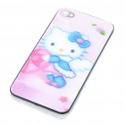 Protective PC Back Case with 3D Graphic for iPhone 4 - Hello Kitty