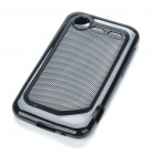 Protective PVC Back Case for HTC Incredible S - Black