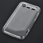 Protective PVC Back Case for HTC Incredible S - White