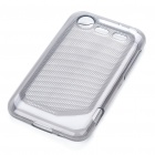 Protective PVC Back Case for HTC Incredible S - Grey