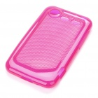 Protective PVC Back Case for HTC Incredible S - Deep Pink