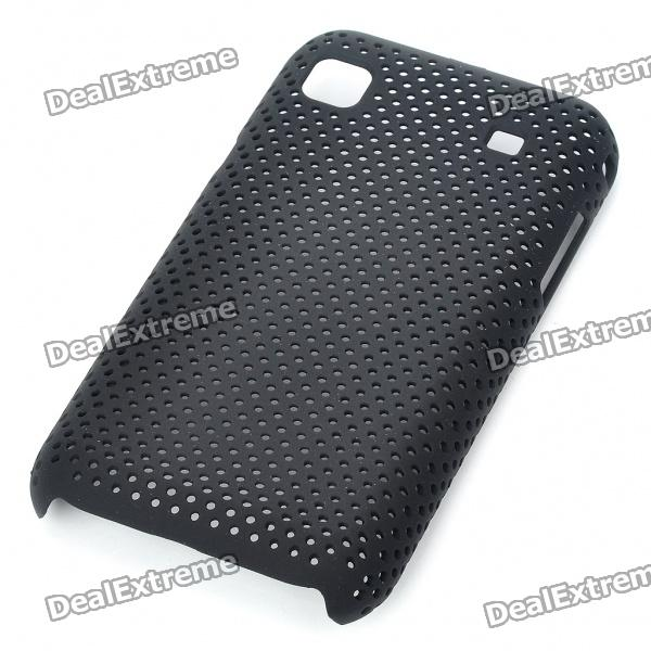 Mesh Protective PC Plastic Back Case for Samsung I9000 Galaxy S - Black