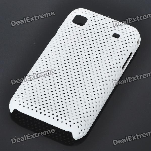 Mesh Protective PC Plastic Back Case for Samsung I9000 Galaxy S - White