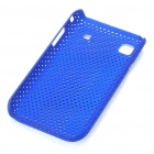 Mesh Protective PC Plastic Back Case for Samsung I9000 Galaxy S - Blue