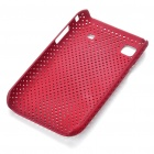 Mesh Protective PC Plastic Back Case for Samsung I9000 Galaxy S - Red