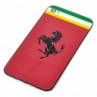 Stylish Replacement Plastic Back Cover Housing Case for iPhone 4 - Ferrari (Red)