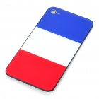 Stylish National Flag Style Replacement Plastic Back Cover Housing Case for iPhone 4 - France