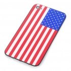 Stylish National Flag Style Replacement Plastic Back Cover Housing Case for iPhone 4 - US