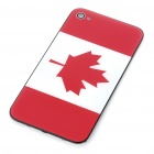 Stylish National Flag Style Replacement Plastic Back Cover Housing Case for iPhone 4 - Canada