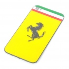 Stylish Replacement Plastic Back Cover Housing Case for iPhone 4 - Ferrari (Yellow)