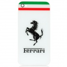 Stylish Replacement Plastic Back Cover Housing Case for iPhone 4 - Ferrari (White)
