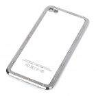 Stylish Replacement Metal + Plastic Back Cover Housing Case for iPhone 4 - Silver
