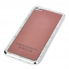 Stylish Replacement Metal + Plastic Back Cover Housing Case for iPhone 4 - Coffee