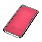 Stylish Replacement Metal + Plastic Back Cover Housing Case for iPhone 4 - Red